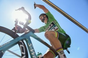 Peter Sagan in action on stage five of the Tour de France