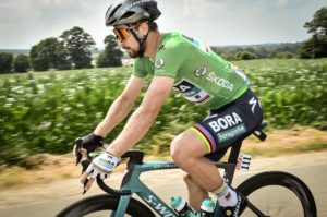 Peter Sagan in the green jersey on stage seven of the Tour de France