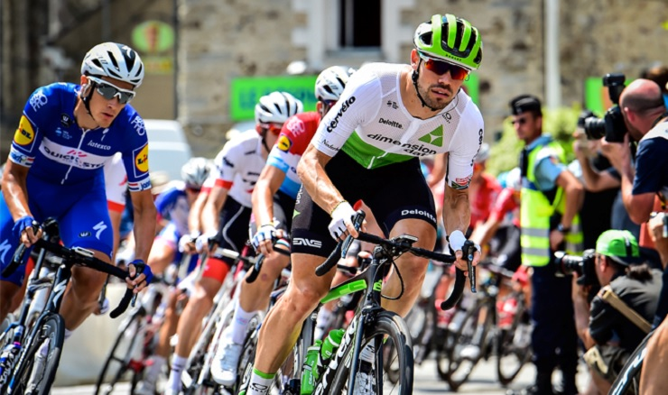 South African Reinardt Janse van Rensburg, riding for Dimension Data, finished 11th in a technical finish on stage 13 of the Tour de France today. Photo: Stiehl Photography
