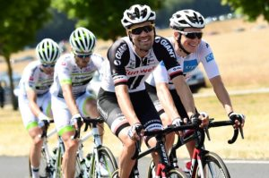 Team Sunweb's Tom Dumoulin is all smiles on stage eight of the Tour de France