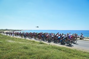 A bunch of riders during stage five of the Tour de France