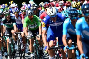 The peloton in action during stage six of the Tour de France