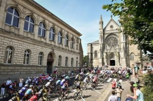 Riders in action during stage seven of the Tour de France