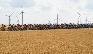 The peloton in action during stage eight of the Tour de France.