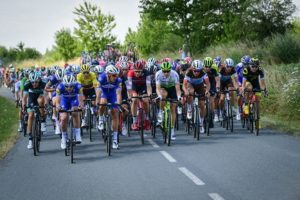The peloton during stage nine of the Tour de France