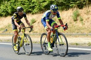 Riders in action on stage eight of the Tour de France