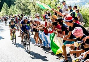 Riders in action during stage 14 of the Tour de France