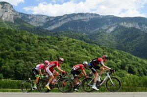 Riders in action during stage 13 of the Tour de France