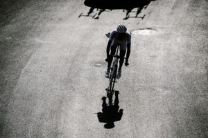 A solo cyclist during stage 12 of the Tour de France