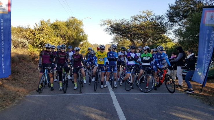 Gert Heyns and Hayley Preen won the 'queen' road race in stage two of the USSA Cycling Championships yesterday. Photo: Supplied