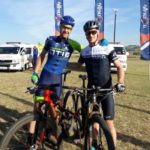 Andrew Hill and Shaun-Nick Bester won stage three of the inaugural 150 MTB race in Ballito, KwaZulu-Natal, today. Photo: Tania Bester