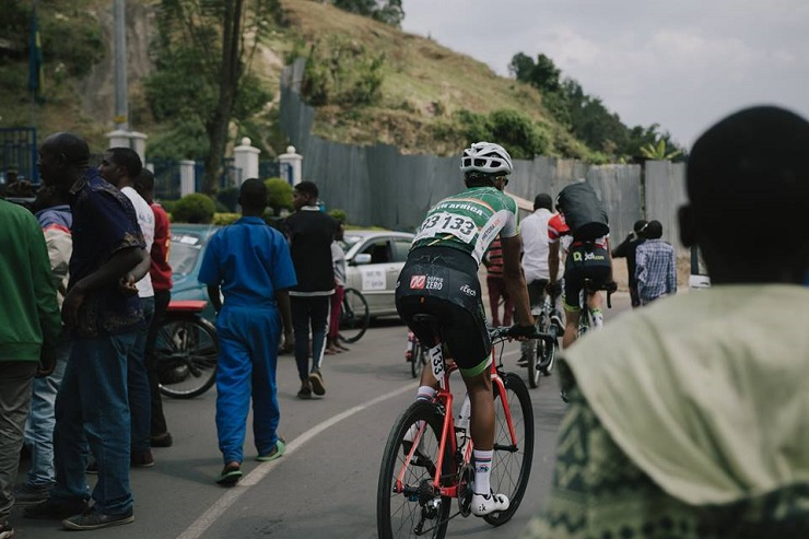 South Africa's Jayde Julius (pictured) came second on the 95.1km fifth stage of the Tour du Rwanda in Rubavu today. Photo: ProTouch Sports