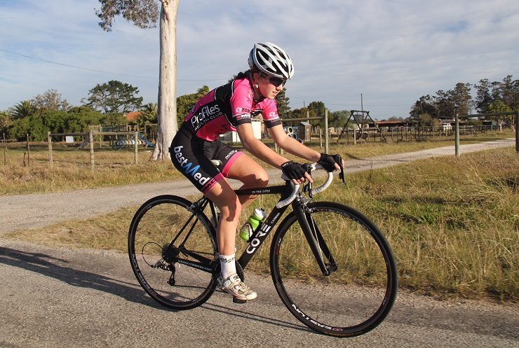 Kelsey van Schoor (pictured) ticked off a major goal in her young career when she was recently selected to represent South Africa at the junior UCI Road World Championships. Photo: Supplied