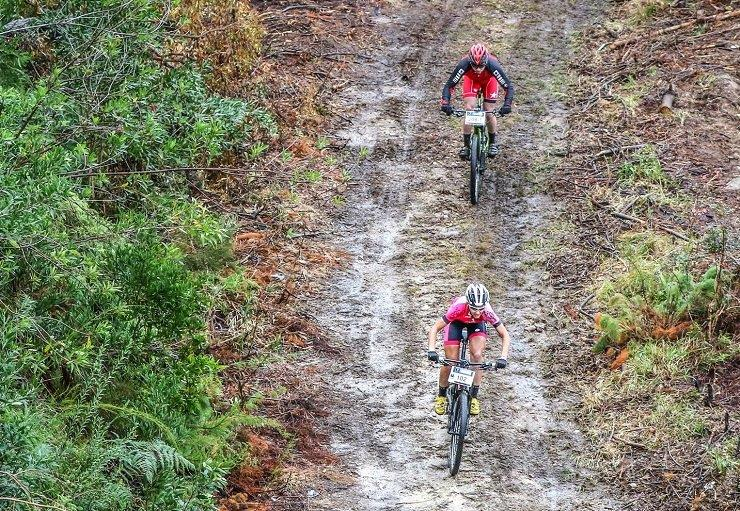Alexander Rohrer and Luke Evans won the 63.9km first stage of the Storms River Traverse today. Photo: Oakpics.com