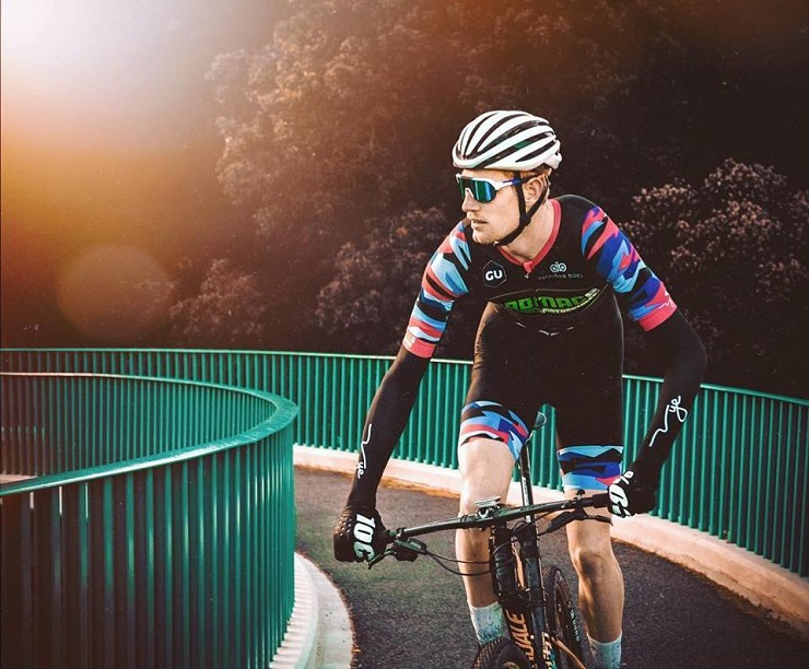 South African professional cyclist Declan Sidey