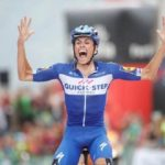 Quick-Step Floors' Enric Mas narrowly claimed victory on the penultimate stage of the Vuelta a Espana atop Coll de la Gallina today. Photo: Unipublic/Luis Ángel Gómez