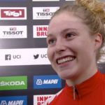 Austria's Laura Stigger (pictured) won the junior women's road race at the UCI Road World Championships in Innsbruck, Austria, today. Photo: tiz-cycling.racing