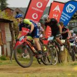 Allard Basile and Remy Bourdon won the 60km opening stage of the Lesotho Sky yesterday. Photo: Wayne Reiche/Lesotho Sky