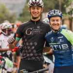 Reinhard Zellhuber (left) and Andrew Hill won the 85km second stage of the Lesotho Sky in Malealea today. Photo: Wayne Reiche/Lesotho Sky
