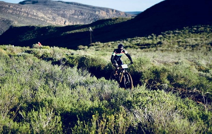 A rider in action during the third and final stage of the Ride2Nowhere today. Photo: Anthony Rosser