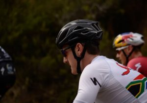 A close-up shot of Alan Hatherly during stage four of the Cape Pioneer Trek. Photo: Carli Smith
