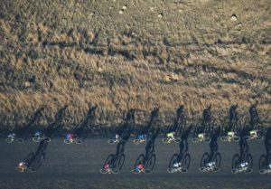 A bird's eye-view of riders in action during stage three of the Berg and Bush 'Descent'. Photo: Em Gatland/Nikon