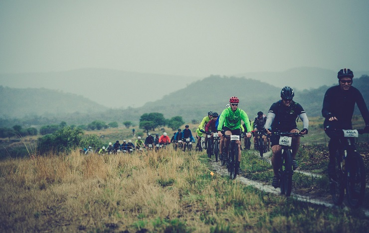 Riders pictured in action during yesterday's weather-affected first stage of the Berg and Bush 'Two-Day', which was subsequently cancelled. Photo: Em Gatland