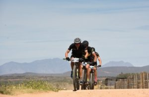 Riders moving along a flat section during stage four of the Cape Pioneer Trek. Photo: Carli Smith
