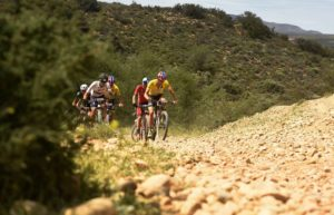 The leading men teams pictured during stage four of the Cape Pioneer Trek. Photo: Carli Smith