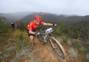 Cape Pioneer Trek stage five rider through water