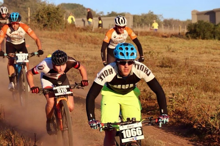 Despite not having put in much training this year, Jason Meaton is hopeful he will be able to defend his Steeltek MTB Race title tomorrow. Photo: Supplied