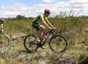 Winners Matthys Beukes (right) and Philip Buys pictured in action during stage one of the Cape Pioneer Trek. Photo: Marike Cronje