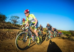 PYGA Euro Steel's Matthys Beukes leading the way during stage two of the Berg and Bush 'Descent'. Photo: Tobias Ginsberg