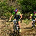"Philip Buys (left) and Matthys Beukes are back at the top of their game after they defended their Berg and Bush ""Descent"" title when they won the third and final stage today. Photo: Tobias Ginsberg"