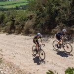 Songo.info's Craig Boyes and Christoph Sauser won the 16km prologue of the Rainmaker RollerCoaster gravel stage race in Swellendam today. Photo: Facebook/HotChillee