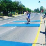 Shameeg Salie crosses the line first in the 170km race at the One Tonner