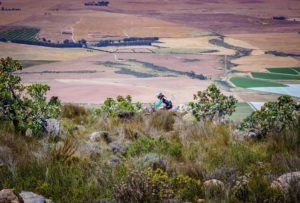 Riders were spoiled with splendid views during stage one of The U MTB Stage Race. Photo: Chris Hitchcock