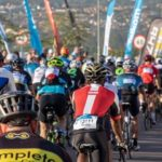 A wide-pan shot of a bunch of cyclists during the 947 Cycle Challenge. Photo: 947 Cycle Challenge