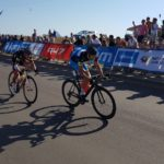 Jean-Pierre Lloyd won the junior men's race at the 947 Cycle Challenge today. Photo: Supplied