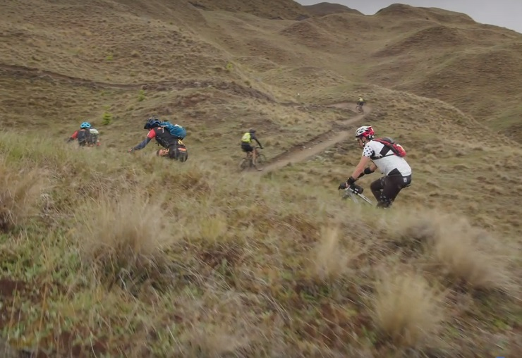 Riders in action during the prologue of The Pioneer in New Zealand today. Photo: Facebook/ThePioneerNZ