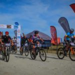 Mountain bikers start the Cape Agulhas Classic