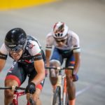 David Maree (front) in action during the SA National Track Champs yesterday. Photo: Owen Lloyd
