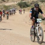 Riders moving along a windy section during the Desert Dash. Photo: Gondwana Collection Namibia