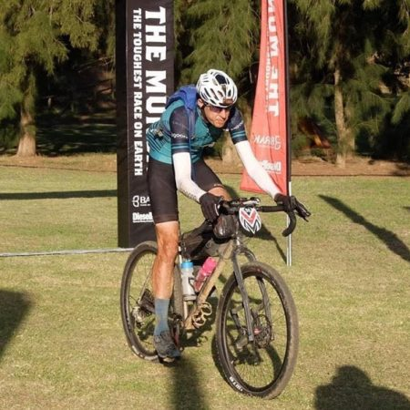 """Heinrich Visser said he was """"super stoked"""" with his result at The Munga ultra-endurance mountain-bike race at the weekend. Photo: Facebook/Elza Visser"""