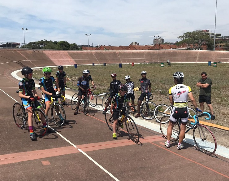 KwaZulu-Natal track cyclists pictured before a training session or race. Photo: Supplied