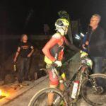 Konny Looser won the 369km Desert Dash ultra-endurance mountain-bike race when it finished in Swakopmund, Namibia, today. Photo: Facebook/@nedbankdesertdash