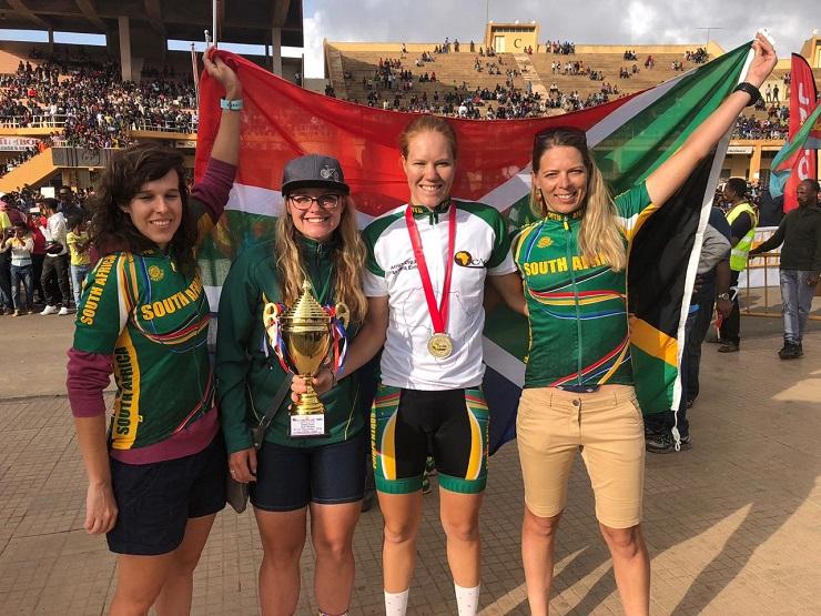 Zanri Rossouw, Liezel Jordaan, Maroesjka Matthee, Sanet Coetzee at Africa Cup