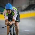 Matthew Ferguson in action at the SA National Track Champs yesterday. Photo: Owen Lloyd