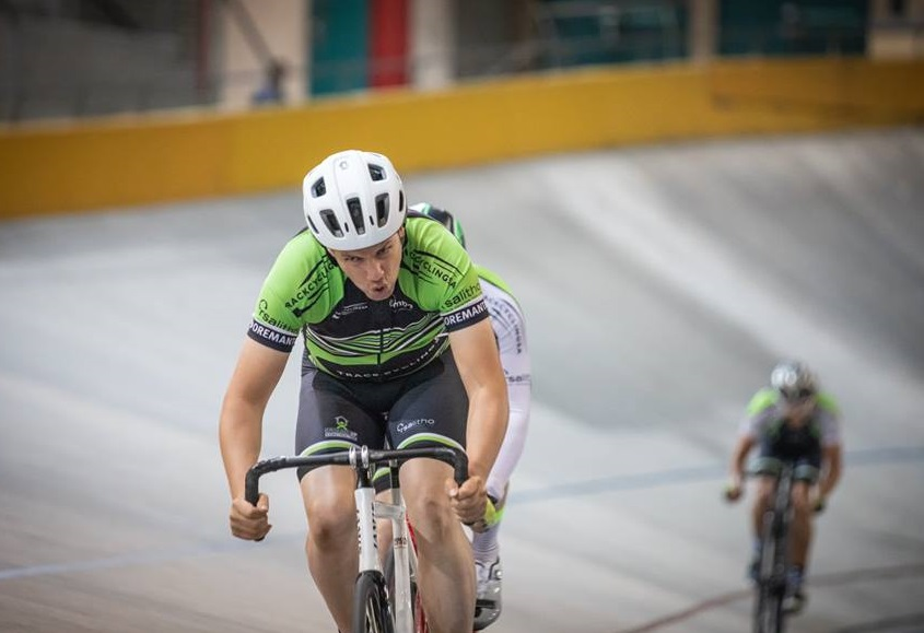 A junior rider in action during day five of the SA National Track Champs yesterday. Photo: Owen Lloyd