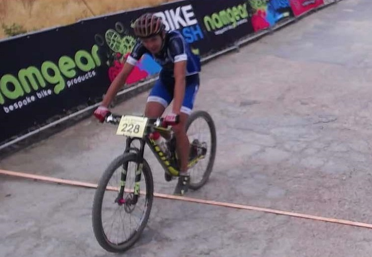 The photo finish capture of Stark Sebastian winning the Race2Nowhere in McGregory today. Photo: Great-Time/mobii.com
